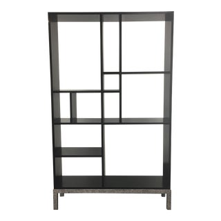 Black Wood & Metal Bookcase