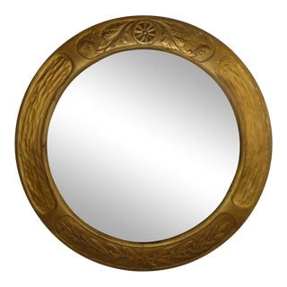 Art & Crafts Aesthetic Movement Giltwood Round Mirror