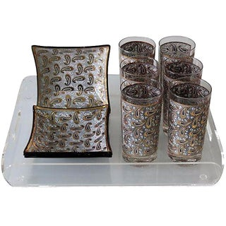 1970s Pucci-Style Bar Set with Tray - Set of 11