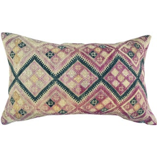 Antique Chinese Embroidered Wedding Quilt Pillow