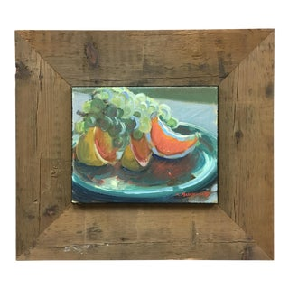 Still-Life Grapefruit & Grapes Oil Painting