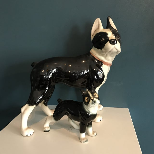 Vintage Ceramic Boston Terriers - A Pair - Image 2 of 5