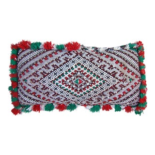 Moroccan Green & Red Diamond Pillow Sham