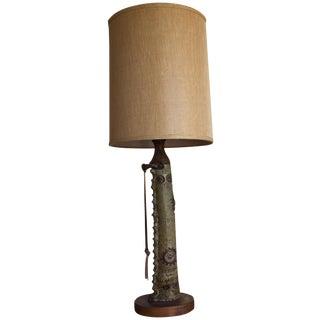 Vintage Mid Century Modern Handmade Clay Lamp