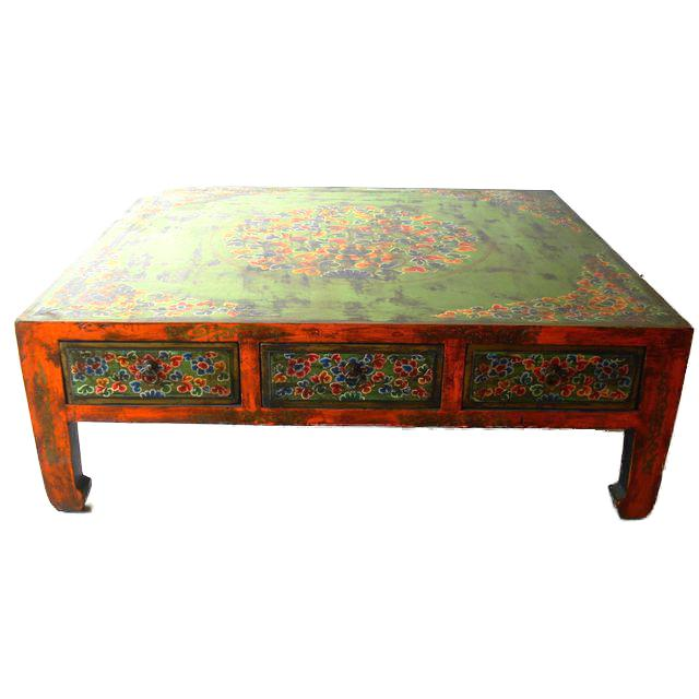 Hand Painted Tibetan Coffee Table Chairish