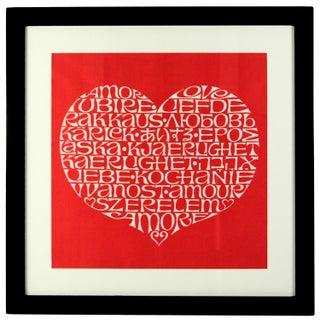 International Heart Textile Art by Alexander Girard