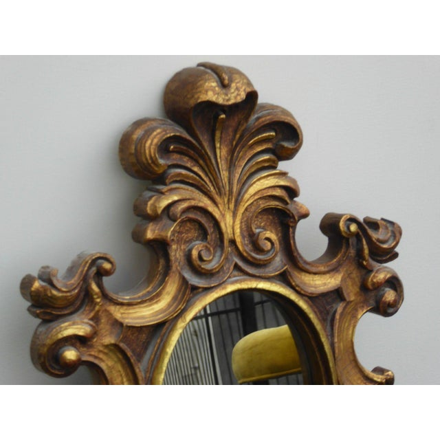 Vintage Syroco Gold Floral Wall Mirror - Image 6 of 11