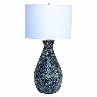 1950s Blue & Turquoise Mosaic Table Lamp