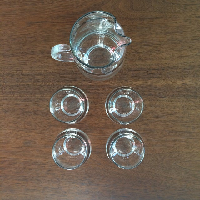 Mid Century Silver Band Liquor - Set of 5 - Image 5 of 7