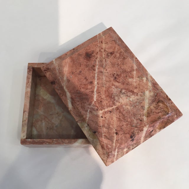 Vintage Beveled Marble Box - Image 4 of 6