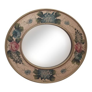 Vintage Hand-Painted Mirror