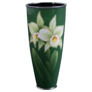 A Japanese Cloisonné Enamel Vase by Ando circa 1960