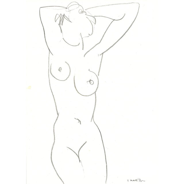 Henri Matisse Nude Drawing, 1952 - Image 1 of 2
