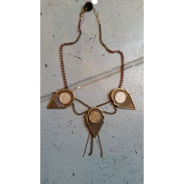 Image of Kae Montgomery Talhakimpt Coin Geometric Necklace