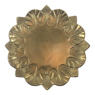 Vintage Brass Botanical Shaped Dish