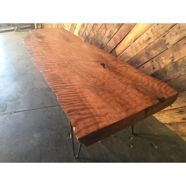 Live Edge Redwood Burl Coffee Table Bench