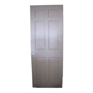 Recessed Panel White Wood Door