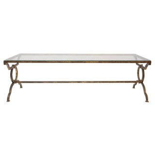 French Mid-Century Gilt Iron Coffee Table