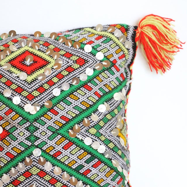 Handcrafted Moroccan Kilim Pillow II - Image 5 of 7