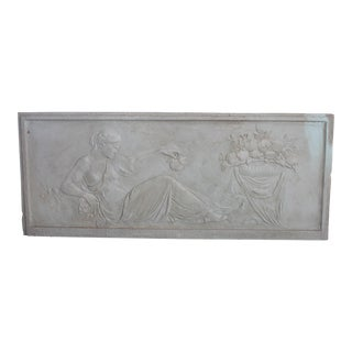 Antique Plaster Frieze of Reclining Maiden