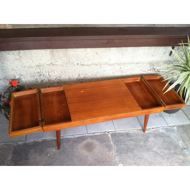 Vintage Rock-Ola Coffee Table / Game Table - Image 6 of 11