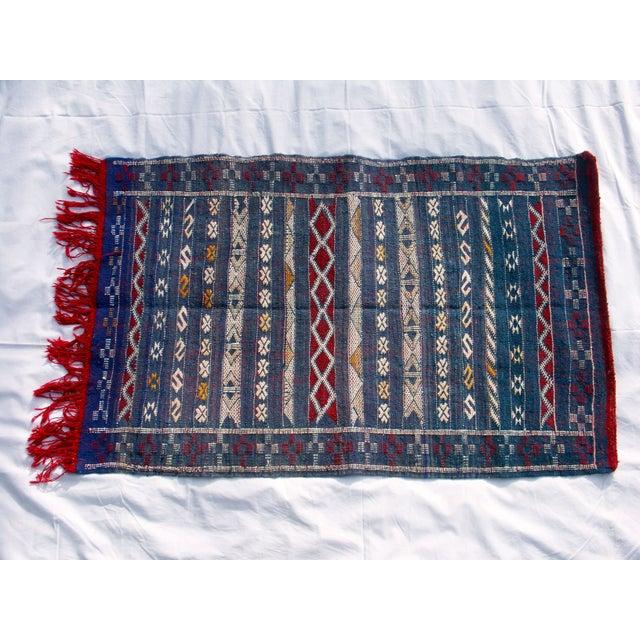 "Moroccan Berber Tribal Kilim Rug - 2' 7"" x 4' 2"" - Image 2 of 6"