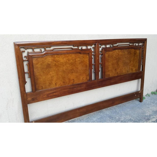 Hollywood Regency Asian-Style King Size Headboard - Image 2 of 6