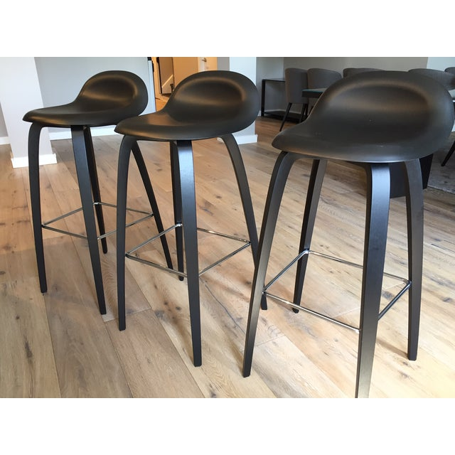Gubi Danish Bar Stools - Set of 3 - Image 5 of 11