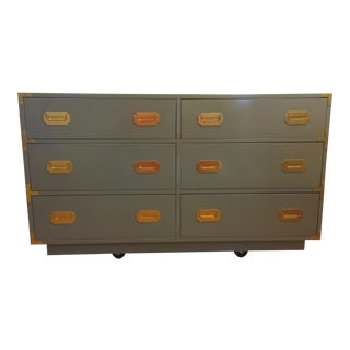 Dixie Campaigner Lacquered Grey Campaign Dresser
