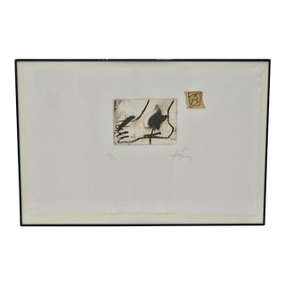 Antoni Tapies (1923-2012) Original Etching w/ Aquatint c.1976