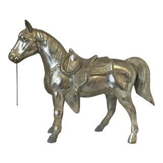 Vintage Western Saddled Horse Figurine