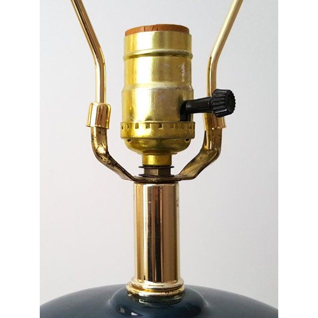 Vintage Asian Blue Ceramic Lamp - Image 5 of 7