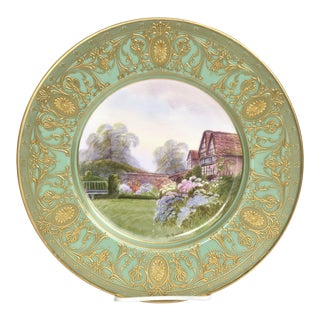 A FINE ANTIQUE WORCESTER PORCELAIN R RUSHTON, HAND PAINTED CABINET PLATE