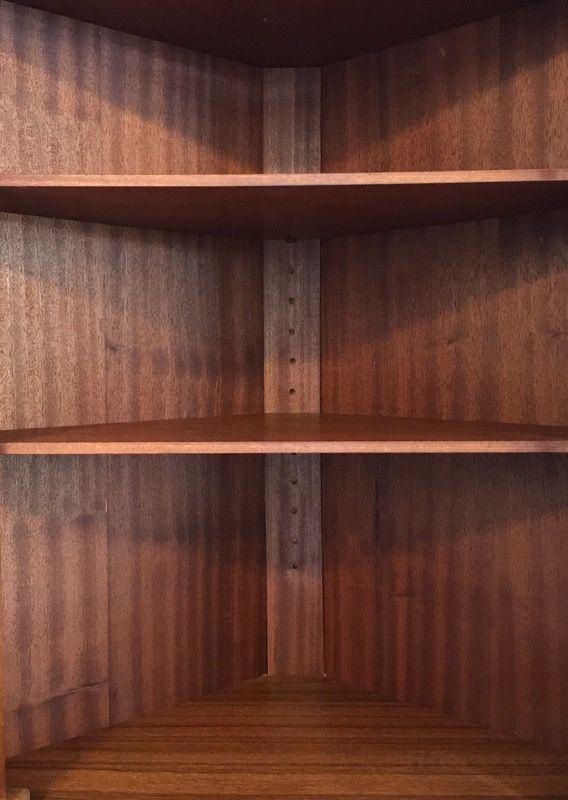 Mid Century Modern Corner Teak Wood Cabinet   Image 4 Of 6
