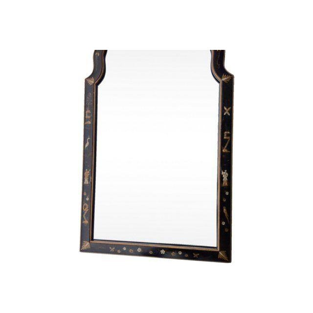 Japaned Lacquer Arch Mirror - Image 2 of 6