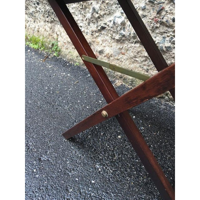Vintage 1950s Chinoiserie Traditional Tray Table - Image 4 of 5