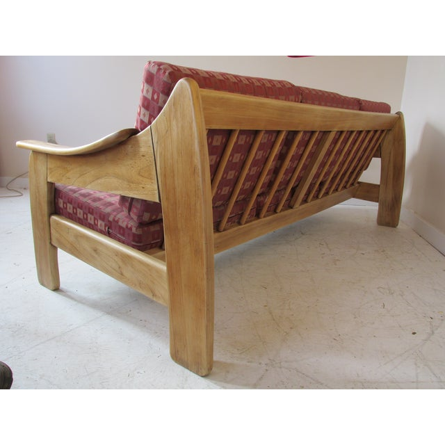 Image of Mid-Century Sofa With Bleached Wooden Frame