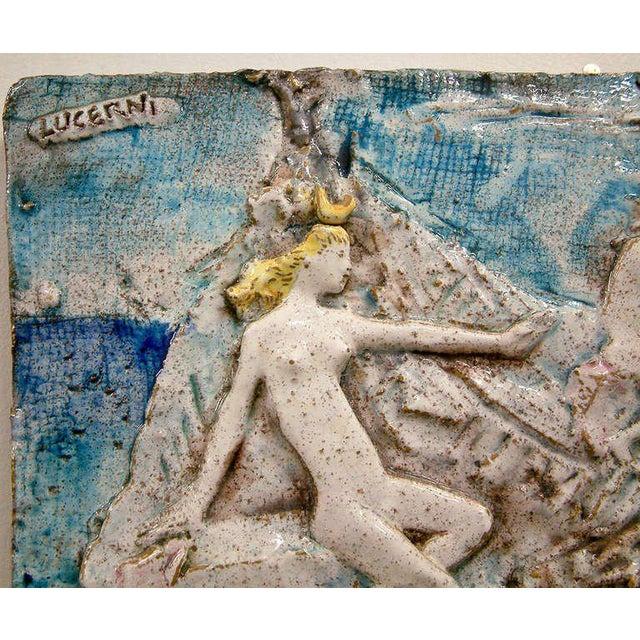 Ugo Lucerni Majolica Wall Relief Sculpture - Image 2 of 6