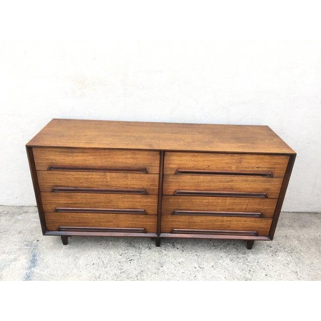 Mid-Century Walnut Wood Dresser - Image 4 of 11