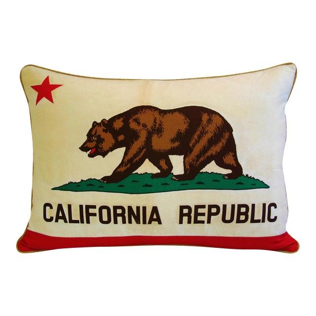 Jumbo California Republic Bear Flag Pillow - Image 1 of 11