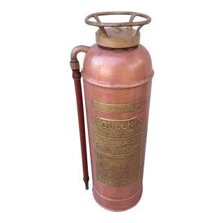 Vintage Copper & Brass Fire Extinguisher