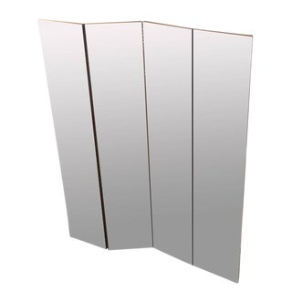 Four-Panel Mirrored Room Divider