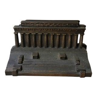 Lincoln Memorial Bronze Bookends Circa 1920s - A Pair