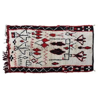 Moroccan Berber-Motif Rug - 4′ × 6′6″