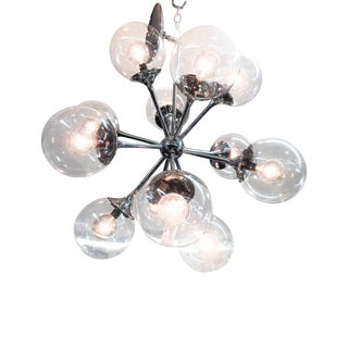 Vintage Lightolier Sputnik Light with 12 Globes