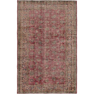 "Turkish Overdyed Red Rug - 5'1"" X 7'11"""