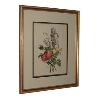 Prevost Floral Print of Roses, Irises, and Narcissus