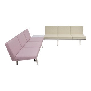 "Two-Tone ""Steel Frame"" Sofa Set by George Nelson"