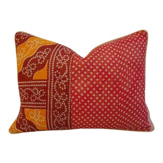 Kantha Textile & Velvet Down Pillow