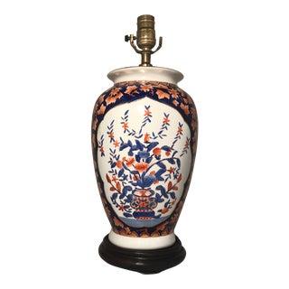 Gilded Imari Style Porcelain Vase Table Lamp